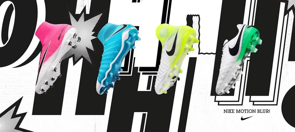 2288bf37aef87  Nike Blur Motion Pack  - Gjør deg klar til sesongstart med denne spreke  vårkolleksjonen fra Nike! Pakken inkluderer nye fargeoppdateringer på  Magista